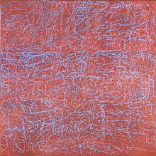 MONIQUE FRYDMAN (née en 1943) : Série : Les lignées. Rose Azur, 2002 Peinture, pigment, liant sur