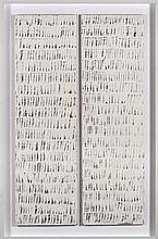 HERBERT ZANGS (1924-2003)  Reihung auf holz, 1978  Huile sur panneau.  Dipt