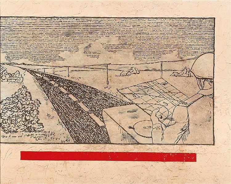 Sergei Mironenko (né en 1959)  Orientation dans le paysage, 1989  Huile sur