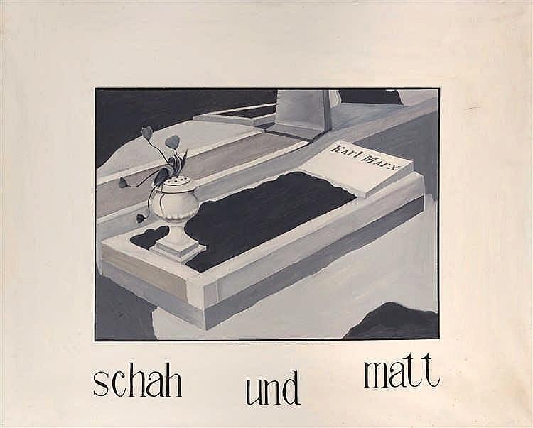 Andrei Yakhnin (né en 1965)  Le tombeau de Marx, 1986-89  Huile sur toile.