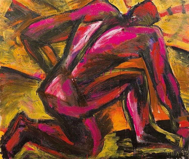 Nikolai Filatov (né en 1951) Moteur, 1986-87 Huile sur toile. Signée et