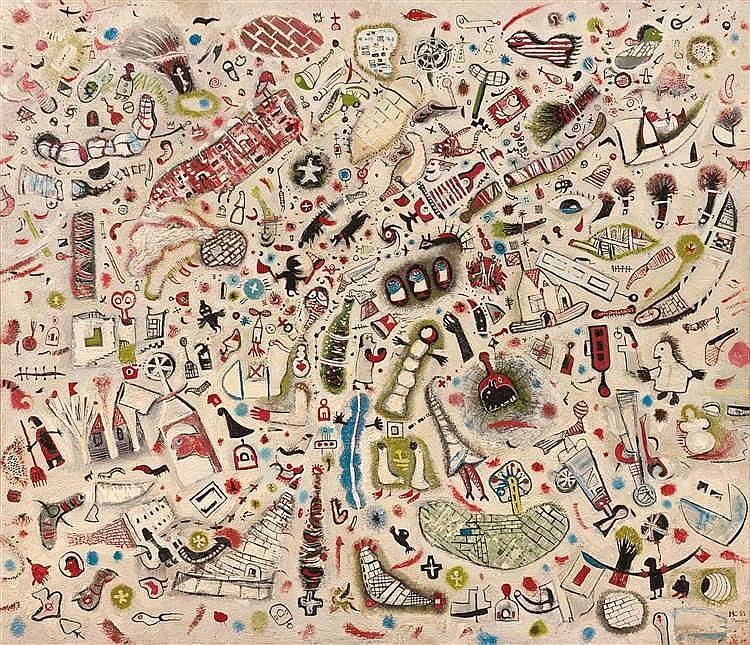 Nikolai Krashchin (né en 1953)  Drop of water, 1989  Huile sur toile.  Sign