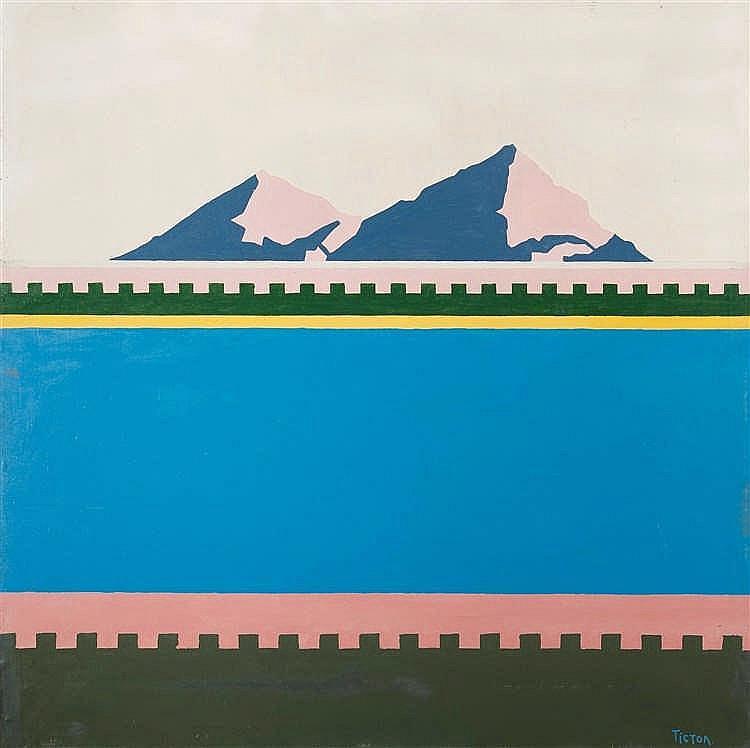 Oleg Tistol (né en 1960) Sinai, 1989 Huile sur toile. Signée en bas à dr