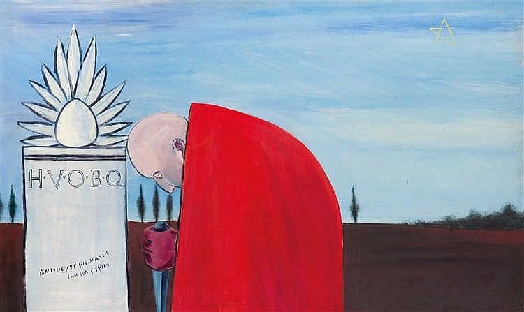 Andrei FILIPPOV (né en 1959) Malédiction, 1987 Huile sur panneau. Signée