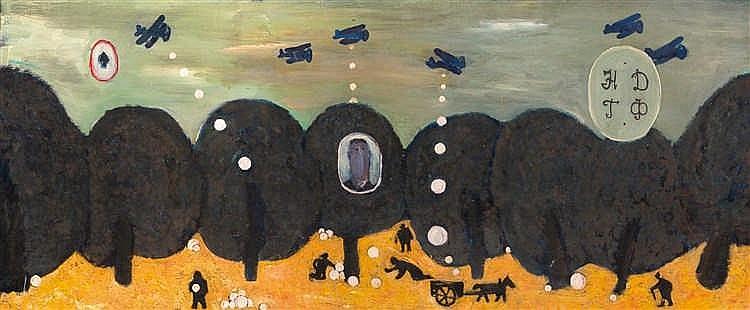 Igor Nezhivoy (né en 1970)  Aide aux affamés, 1989.  Huile sur toile.  Sign