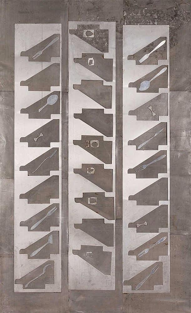 Anton Olshvang (né en 1965)  Lab N°2, 1989  Feuille d'aluminium découpé et
