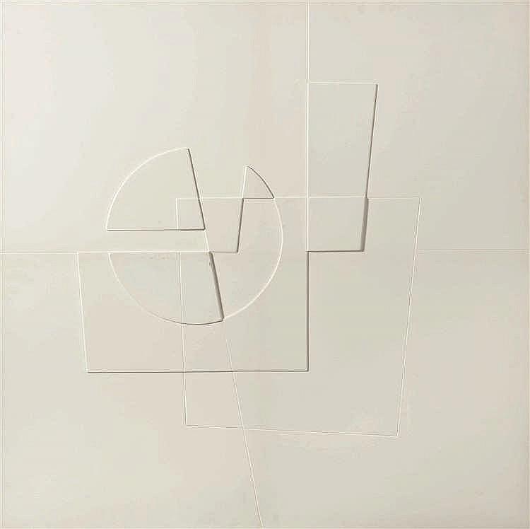 Ferdinand Vonck (né en 1921) Sans titre, 1984 Relief en bois peint. Signé
