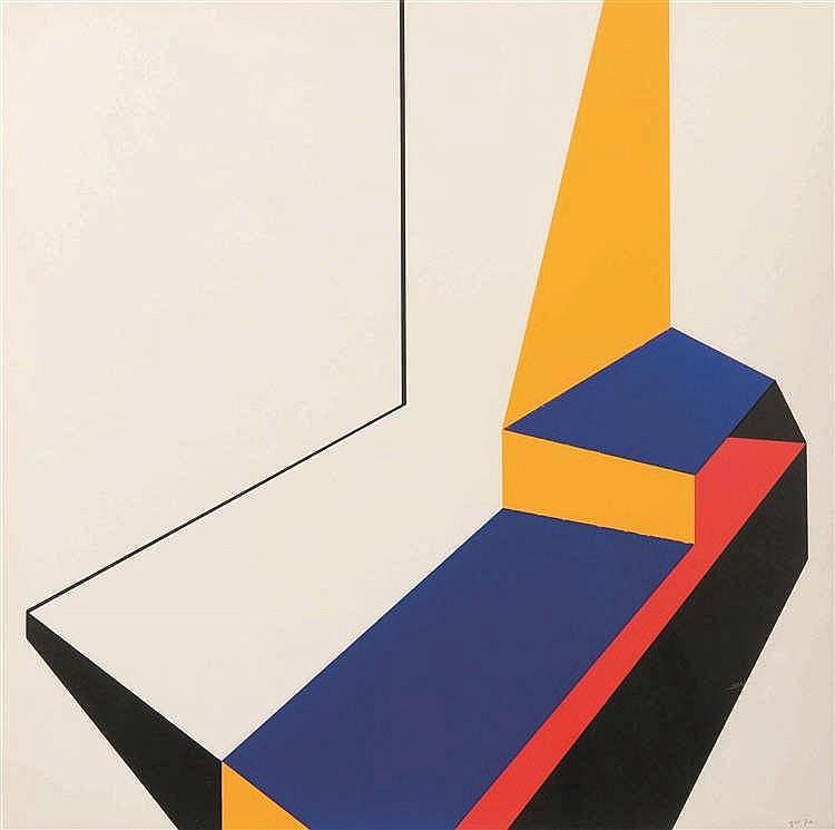 Guy Vandenbranden (1926-2014)   Sans titre, 1970 Gouache sur papier. Monogr