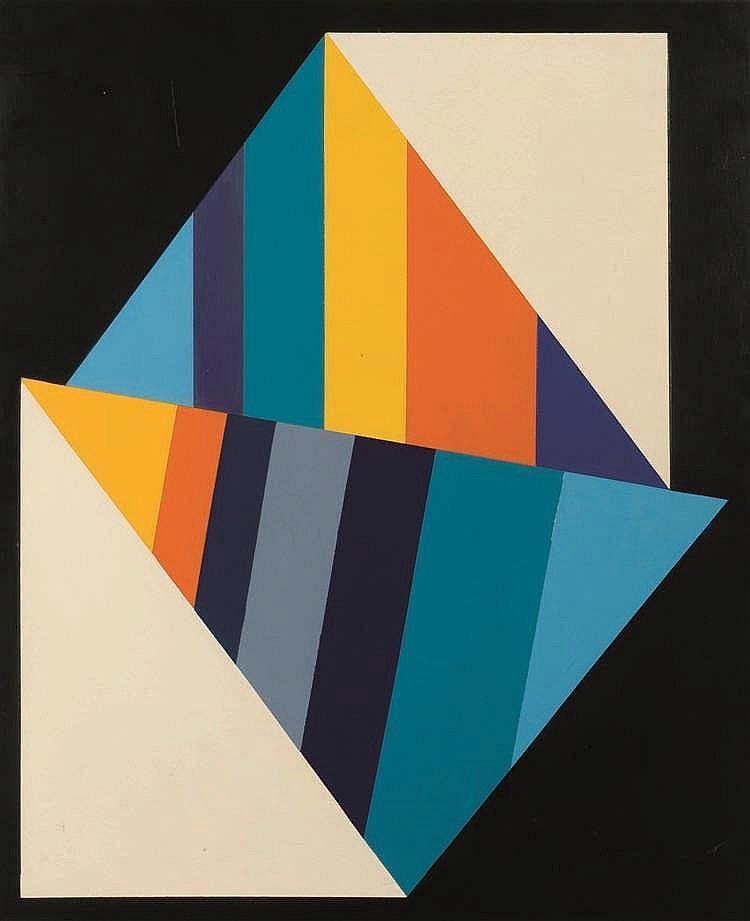 Guy Vandenbranden (1926-2014)   Sans titre, 1972 Huile sur panneau. Signée