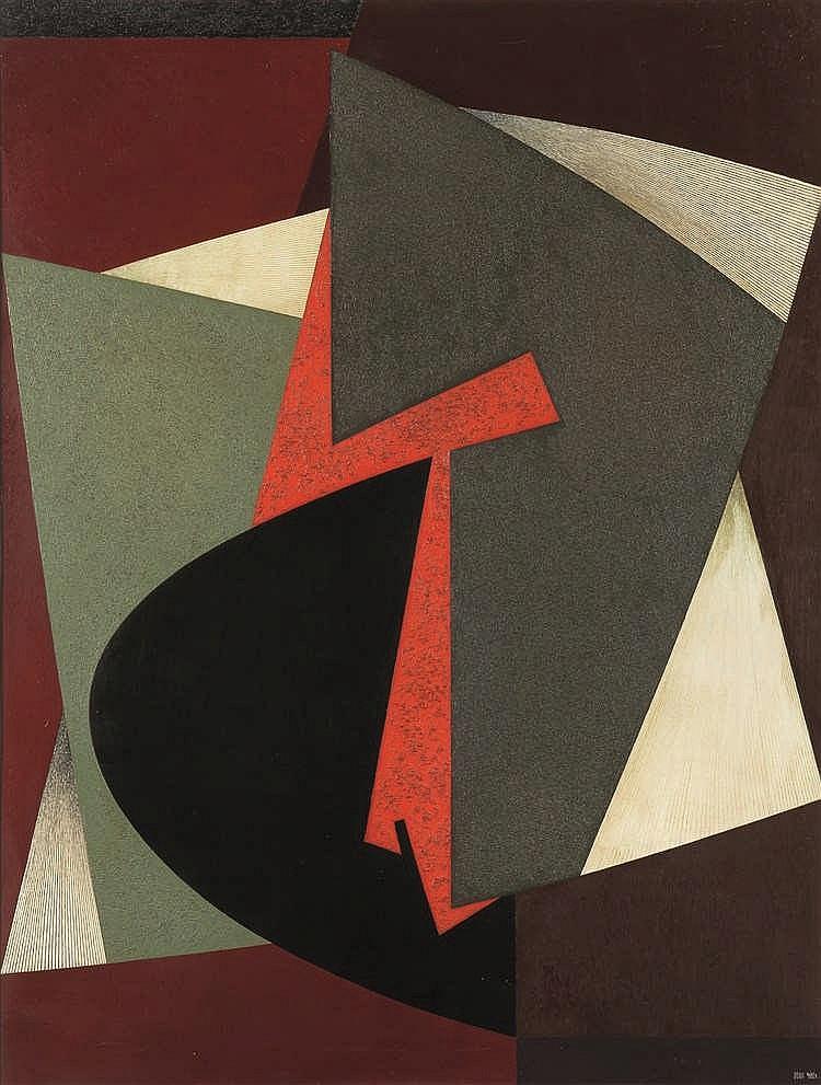 Jean Rets (1910-1998)   Urbisa, 1966 Huile sur toile. Signée en bas à droit