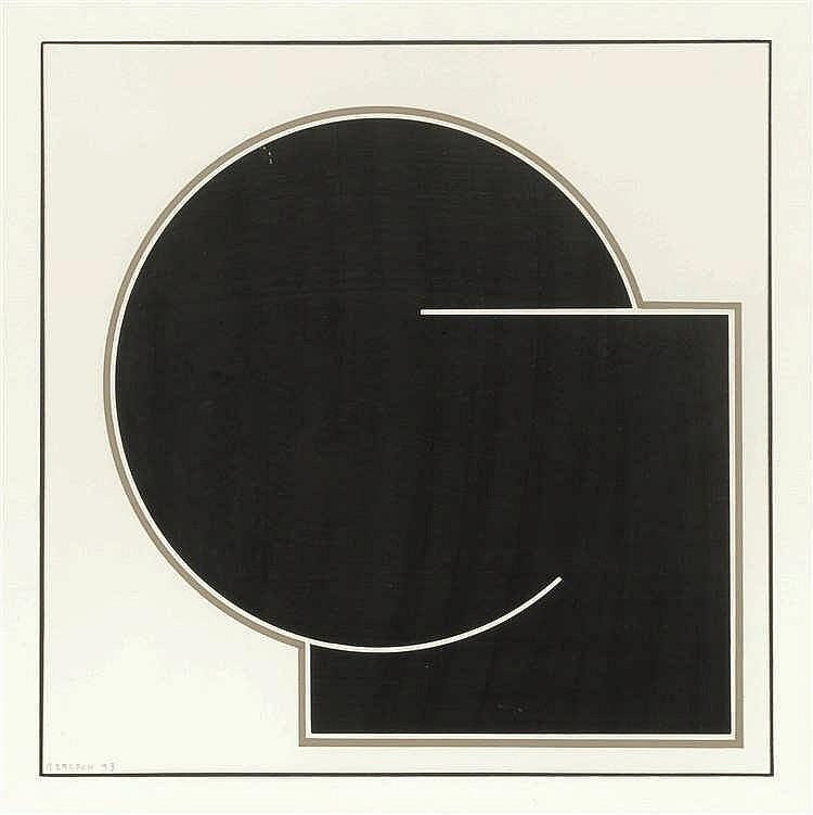 Gilbert Decock (1928-2007) Triptyque, 1993 Trois gouache sur papier. Tout