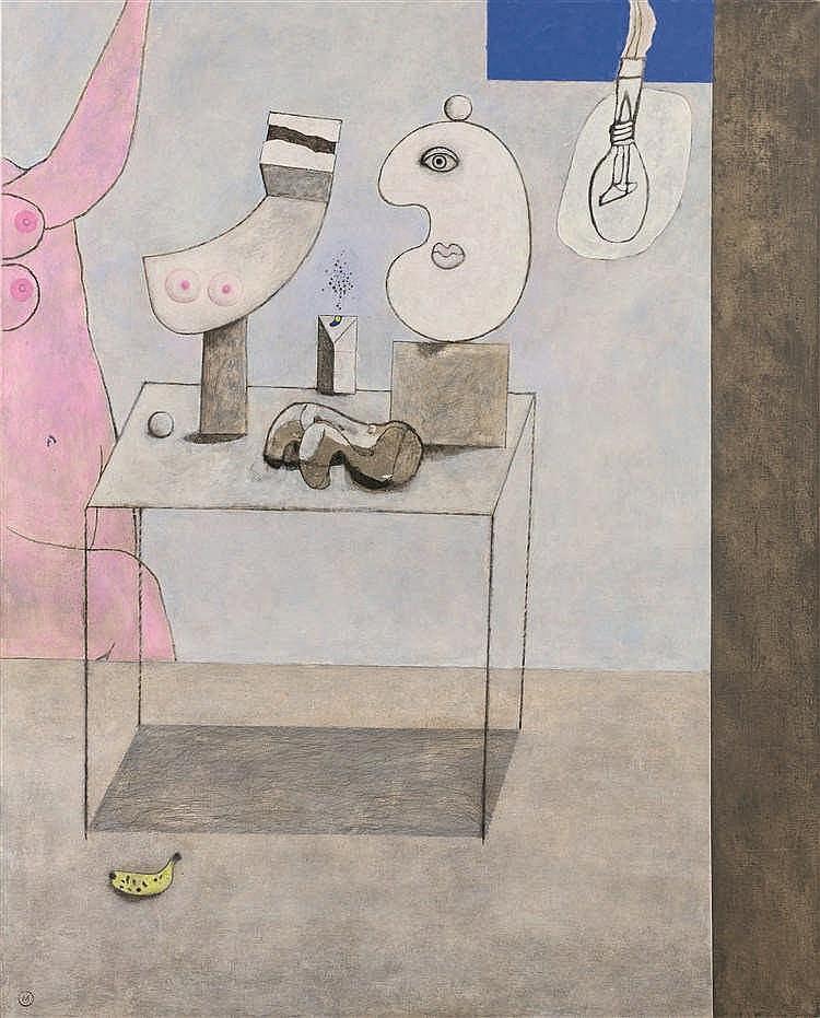 Marc Mendelson (1915-2013)   Sphinx interloqué par son mimétisme, 1980 Huil
