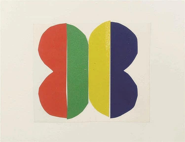 Jo Delahaut (1911-1992)   Projet Collage sur papier. Collage op papier. 12,