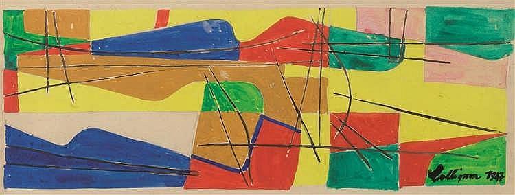 Georges Collignon (1923-2002) Sans titre, 1947 Aquarelle et gouache sur p