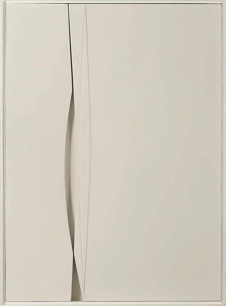 Francis Dusépulchre (1934-2014)   Sans titre, 1980 Relief en bois peint et