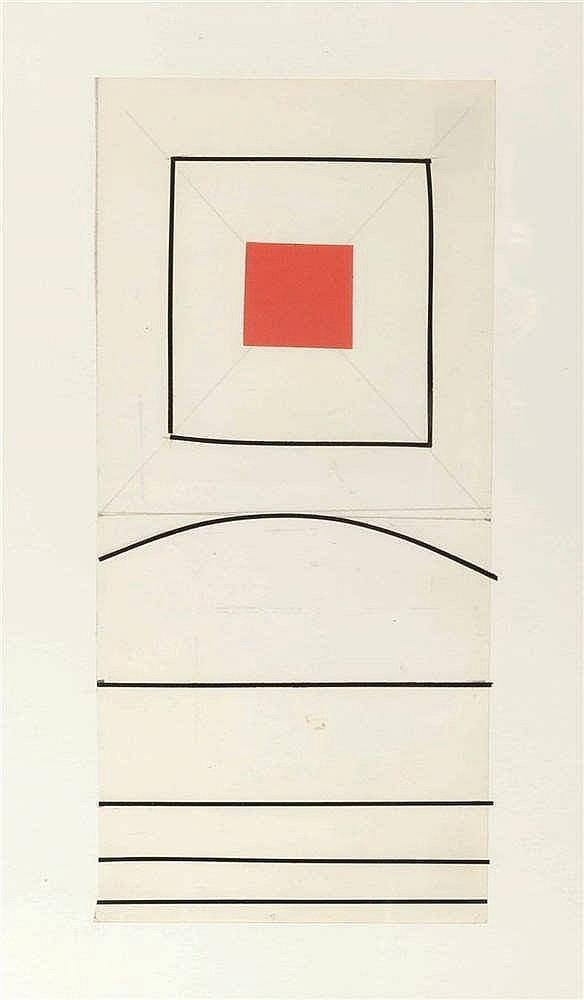 Jo Delahaut (1911-1992) Projet Collage sur papier. collage op papier. 10