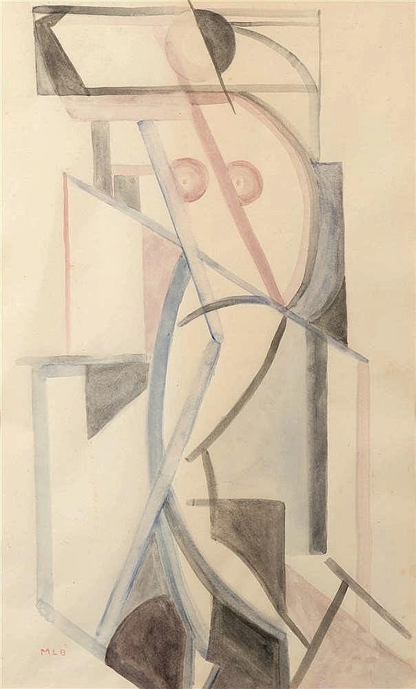 Marcel-Louis Baugniet (1896-1995)   Nu féminin Aquarelle sur papier. Monogr
