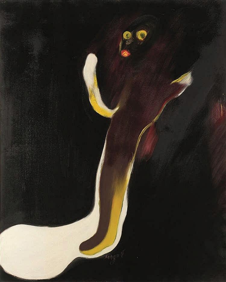 Serge Vandercam (1924-2005)   Sans titre, circa 1965-1968 Huile sur toile.