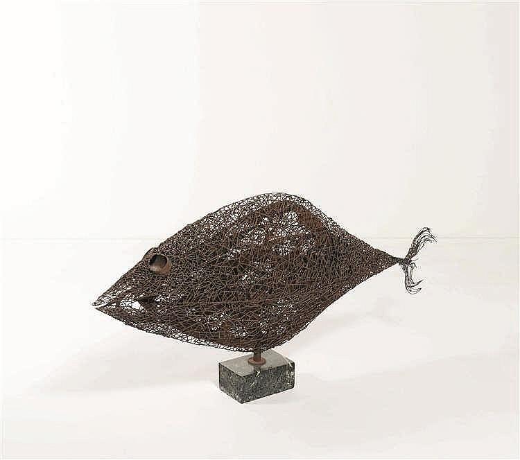ARMAND JONCKERS (né en 1939)   Poisson Pièce unique Sculpture Métal soudé.