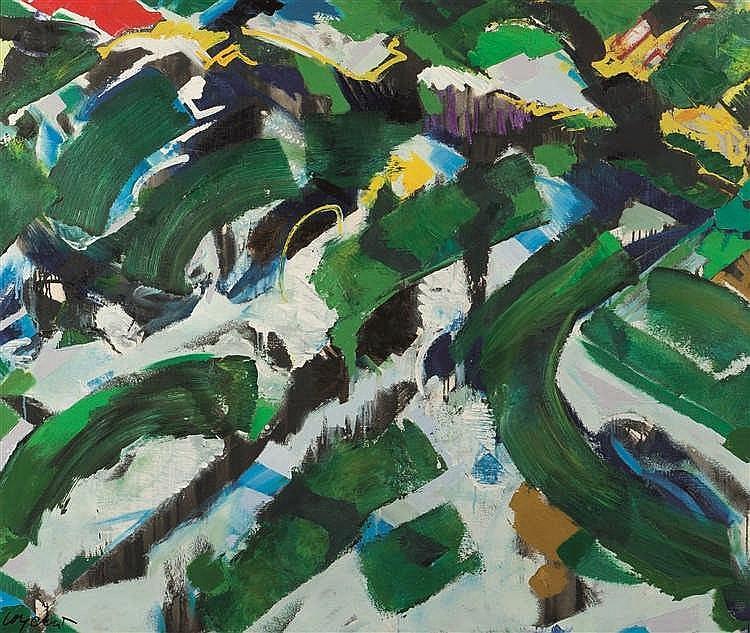 Maurice Wyckaert (1923-1996)   Verzopen, 1988 Huile sur toile. Signée en ba