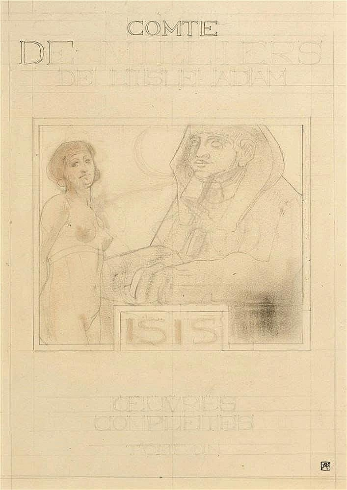 Armand Rassenfosse (1862-1934)   Comte de Villiers de Lisle Adam, Isis, Œuv
