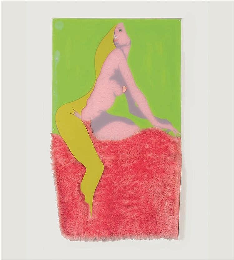 Evelyne Axell (1935-1972)   La Petite Féline rose ou La petite Pelisse rose