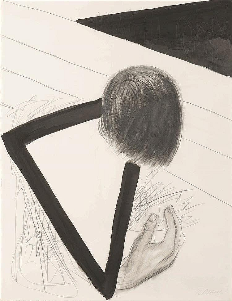 Roger Raveel (1921-2013) Driehoek tussen hoofd en hand, ca 1978-1979 Cray