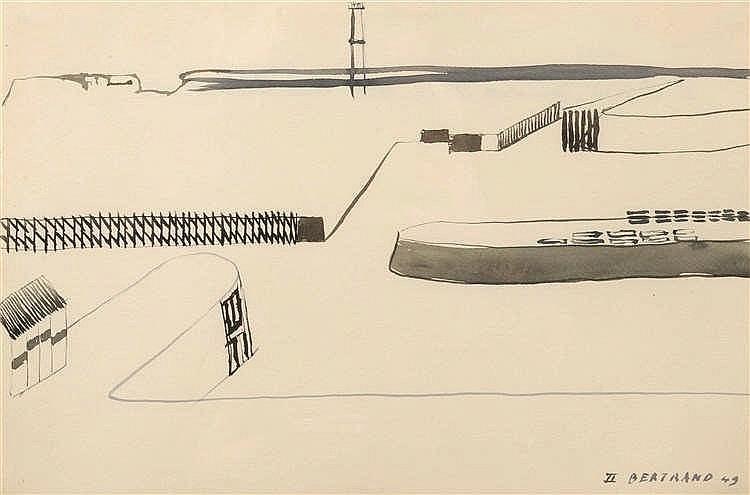 Gaston Bertrand (1910-1994) Ostende II, 1949 Aquarelle sur papier. Signée