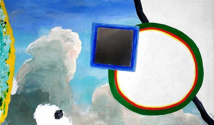 Roger Raveel (1921-2013) Waterbeeld, 1979 Acrylique et miroir sur toile.
