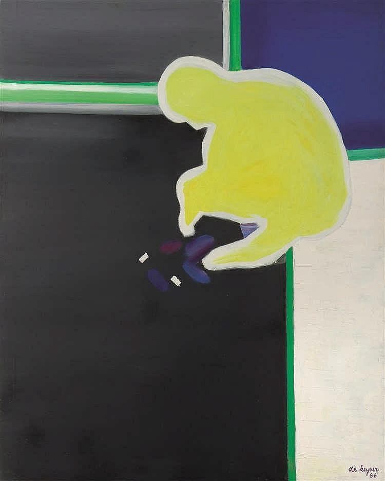Raoul De Keyser (1930-2012)   Sans titre, 1966 Huile sur toile. Signée et d