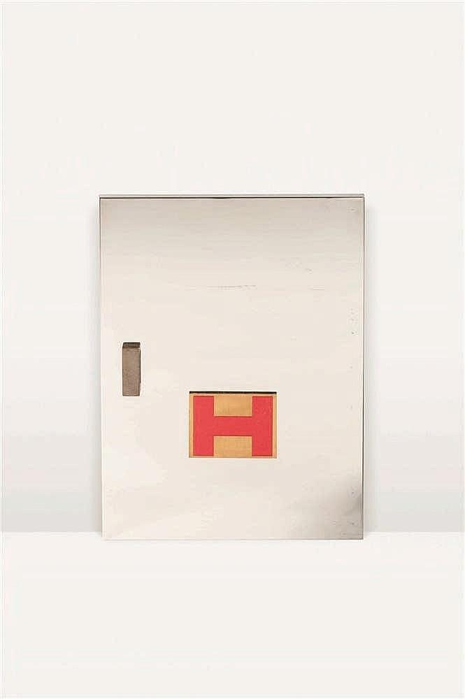 Jules Wabbes (1919-1974) Petite porte avec poignée et plaquette signalétiqu