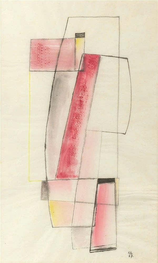 Kurt Lewy (1898-1963) Sans titre, 1957 Encre, aquarelle et pastel sur pap