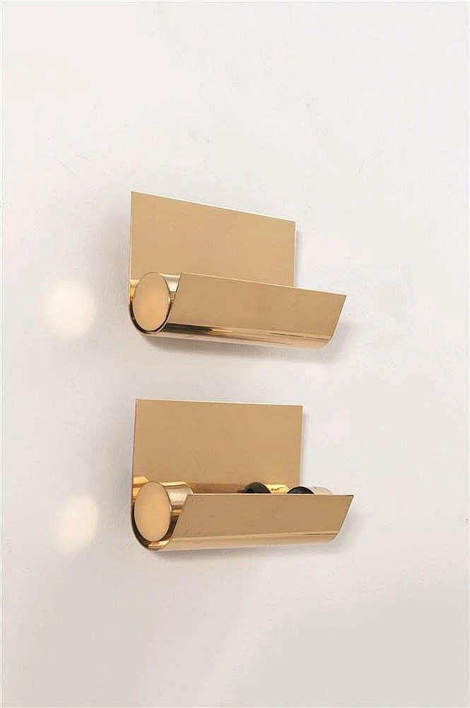 CHRISTOPHE GEVERS (1928-2007) Paire d'appliques - petit modèle Laiton doré