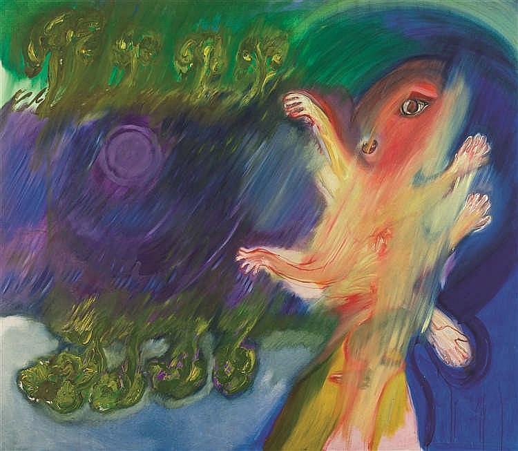 Serge Vandercam (1924-2005) Sans titre, circa 1970 Huile sur toile. Signé