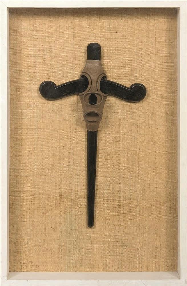 Marcel Mariën (1920 - 1993) L'art nègre démasqué, juin 1971 Bois et plast