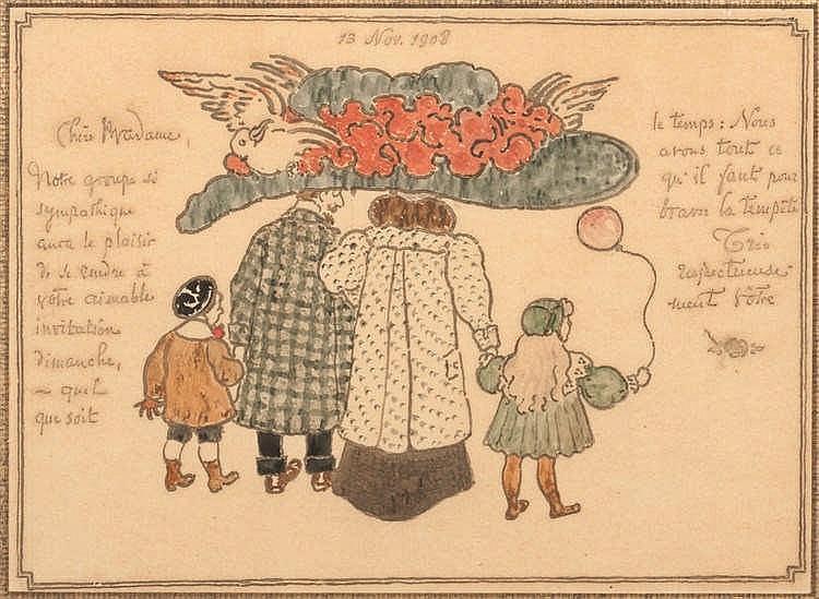 Georges Lemmen (1965-1916) La réponse, 1908 Aquarelle et encre sur papier