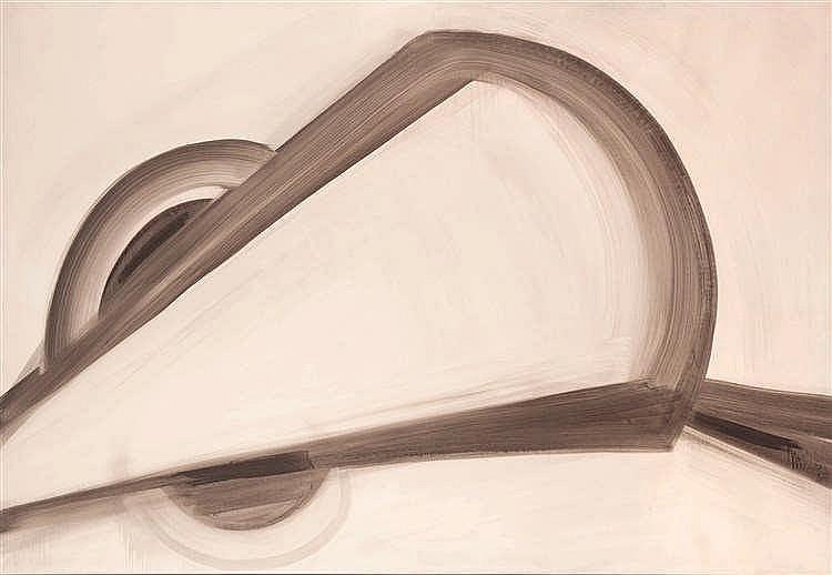 Antoine Mortier (1908-1999)   Sans titre, 1963 Lavis d'encre de Chine rehau