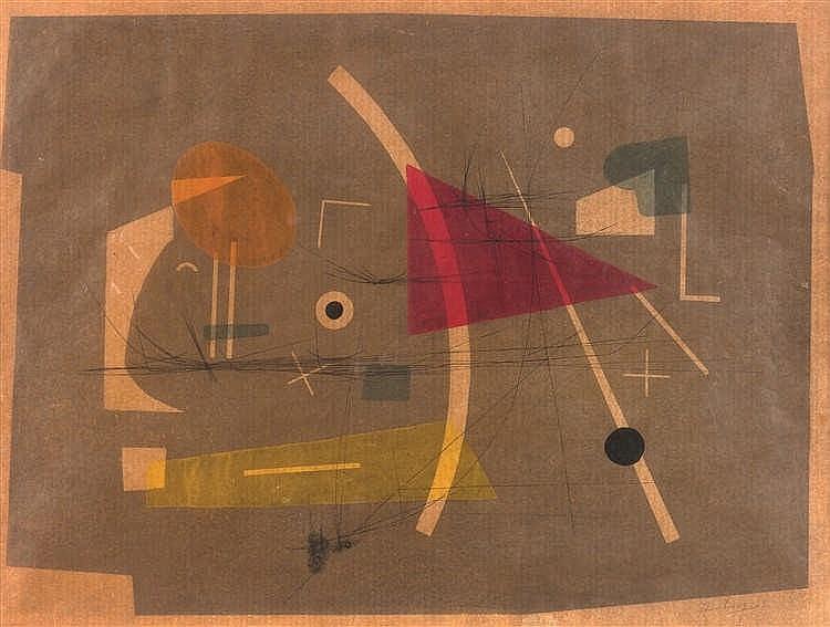 Henri Heerbrant (1912-1982) Sans titre, 1953 Aquarelle et encre sur papie