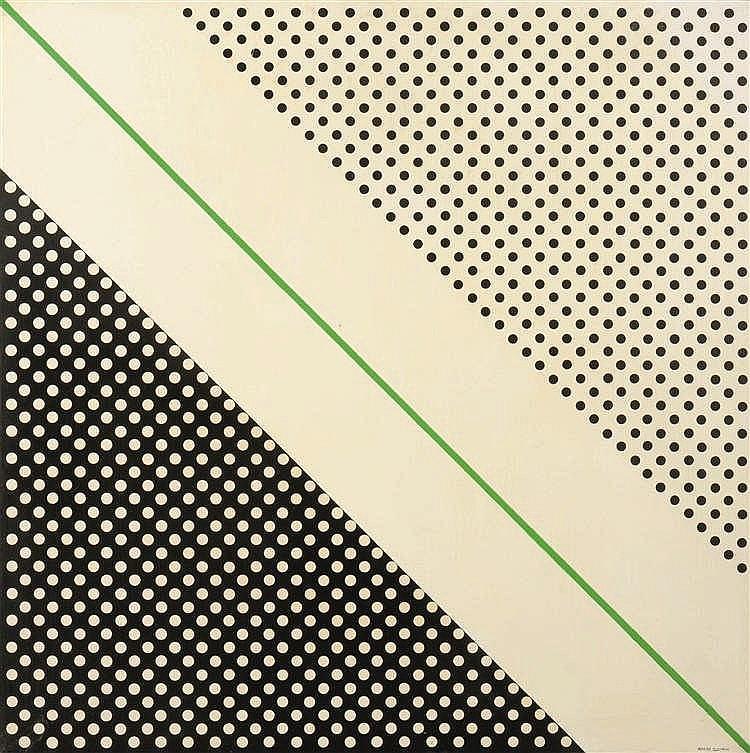 André Goffin (né en 1930)   Négatif - Positif, 1975 Acrylique sur toile. Si