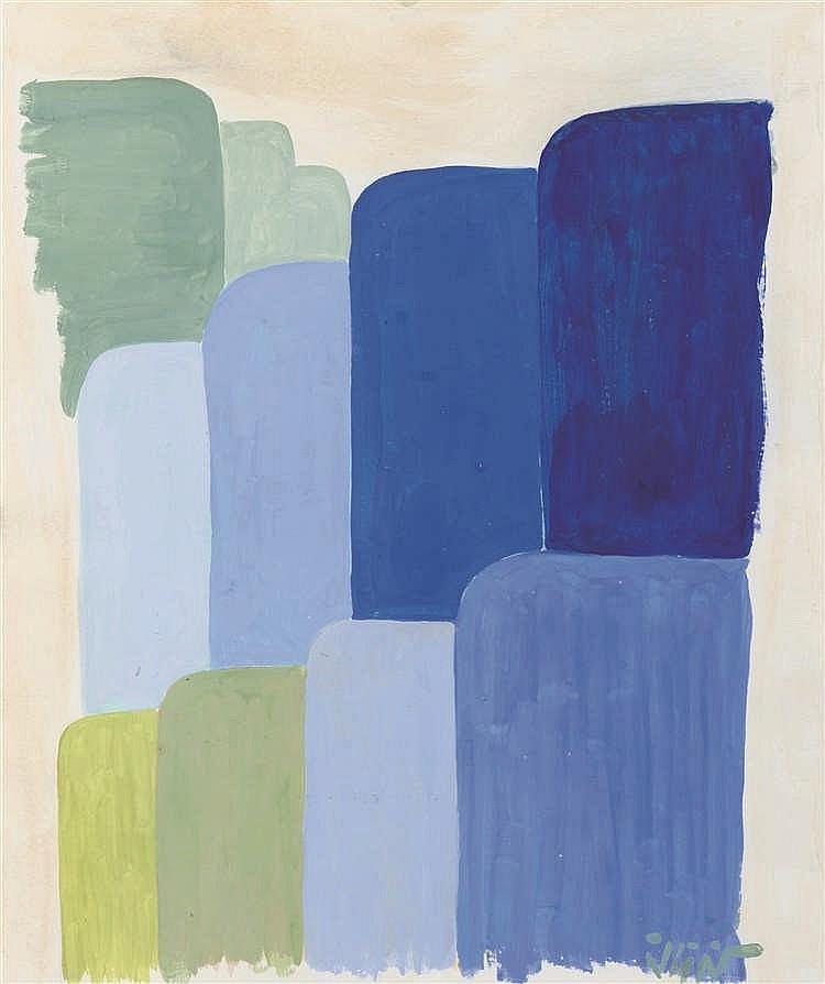 Georges Collignon (1923-2002)   Sans titre Gouache sur papier. Signée en ba