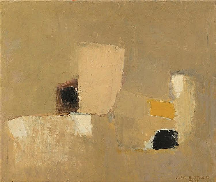 Paul Schrobiltgen (1923-1980) n°202, 1976 Huile sur toile. Signée, datée