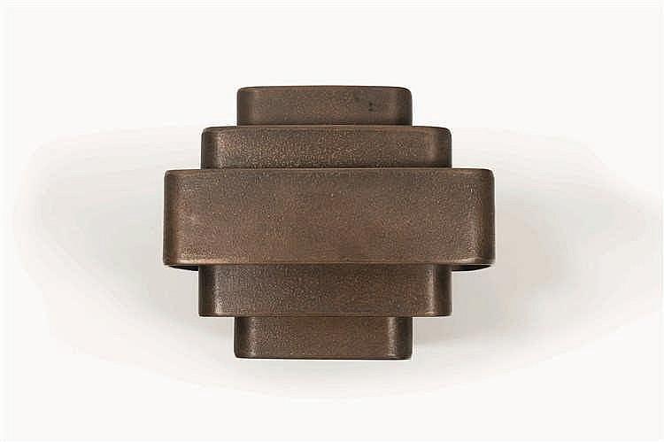 Jules Wabbes (1919-1974) Applique à cinq bandeaux Bronze brut. Wandlamp met