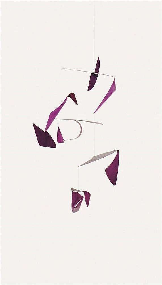 Willy Anthoons (1911-1982)   Sculpture cinétique Aluminium peint (5 élement