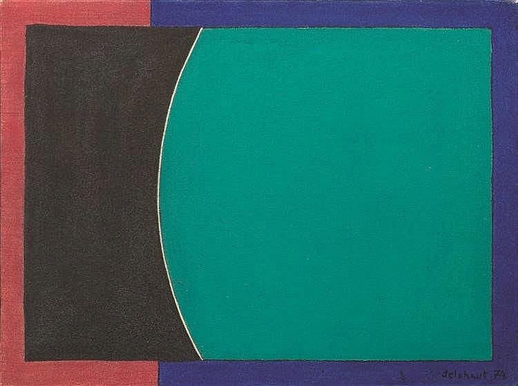 Jo Delahaut (1911-1992)    Sans titre, 1974 Huile sur toile. Signée et daté