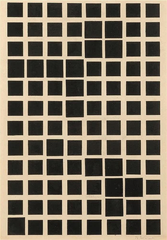 Jo Delahaut (1911-1992) Sans titre, circa 1950 Encre de Chine sur papier.