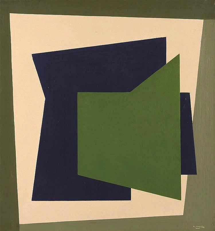Amédée Cortier (1921-1976) Abstracte Compositie, 1962 Huile sur toile. Si