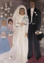 ALICE FREY (1895-1981) Les mariés, 1938. Huile sur toile. Signée et datée