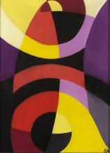 ETIENNE BEÖTHY (1897-1961) Composition abstraite, 1940. Gouache sur papier