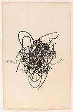 CLAIRE FALKENSTEIN (1908-1997) Object-gravure, 1995. Gravure sur bois.