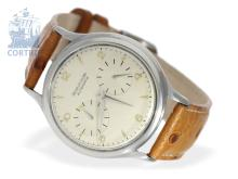Wristwatch: rare stainless steel Jaeger-LeCoultre Futurematic, excellent condition, ca. 1950 (NO LIVE FEE)